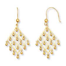 chandelier earrings 14k yellow gold