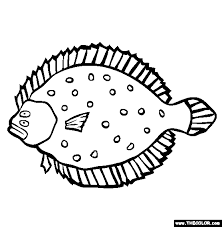 Small Picture Flounder Coloring Page Free Flounder Online Coloring