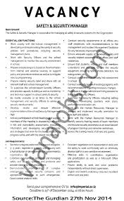 Charming Security Manager Job Objectives Gallery Professional