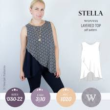 Top Patterns Simple Stella Layered Woven Top PDF Sinclair Patterns