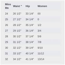 Womens Pants Sizes Online Charts Collection