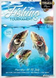 Fishing Tournament Flyer Template Fishing Tournament Flyer Psd Template Facebook Cover Great