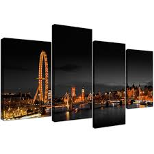 office canvas art. Large Canvas Art Office Landscape London Scene 130cm X 67cm 4186 Display Gallery Item 1