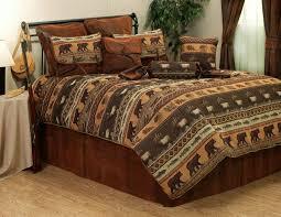 jackson hole elk fish bear cabin bedding comforter ensemble accessories