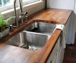 getting to know diffe kitchen sink shapes and types awesome wooden countertop installed at contemporary