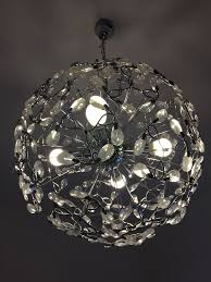 Runder Designer Lampe Kronleuchter Vierarmig