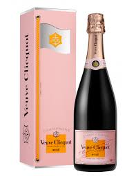 chagne veuve clic rose flag gift box