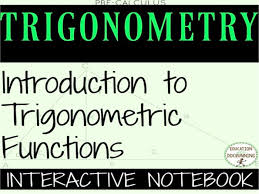 trigonometric functions color coded interactive notebook graphic organizers