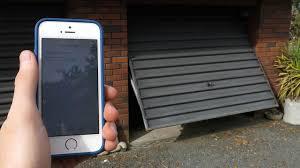 open garage door with phoneBuild A SmartphoneConnected Garage Door Opener With An Arduino