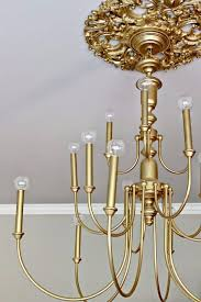 20 brass chandelier makeover