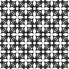 black and white geometric pattern with symbolic flowers vector image vector artwork of backgrounds to zoom
