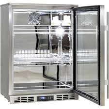 rhino 1 door heated glass door bar fridge self closing door adjule shelves