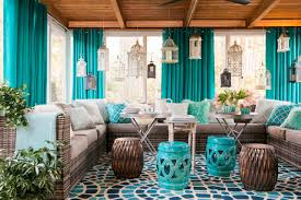 sunroom decorating ideas. Pops Of Bright Color Sunroom Decorating Ideas