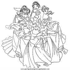 Miglior Collezione Disegni Disney Da Colorare Principesse Disegni