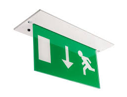ceiling mounted emergency exit lights