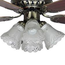 5 Blades 4 Lights Bedroom Modern Ceiling Fans With Lights