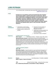Educational Resume Template Free Resume Templates 2018