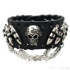 leather biker bracelets s womens leather biker bracelets wo womens