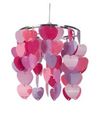 Heart Light Shade Details About Girls Bedroom Nursery Pink Violet Hearts Ceiling Light Shade Pendant Chandelier