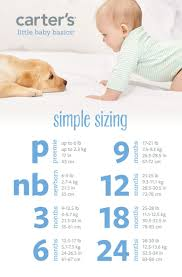 Carters Baby Boy Size Chart Newborn Clothes Size Pounds Carters Newborn Size Chart