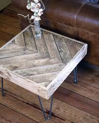 Glass  Reclaimed Wood Round Coffee Table With Hairpin Legs Home Pallet Coffee Table With Hairpin Legs