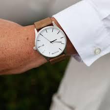 komono winston chambray watch dudepins shop for men white and tan men s watch