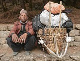 Image result for pictures of nepali porters