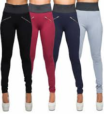 Ebay Pants Size Chart Details About Womens High Waist Leggings Trousers Ladies Sexy Casual Stretch Skinny Pants