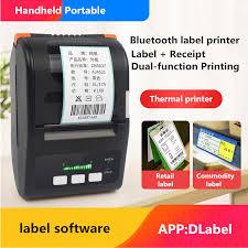 portable <b>label</b> receipt handheld bluetooth printer qr code barcode ...