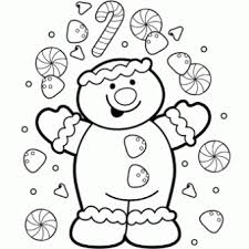Gingerbread Coloring Page Free Christmas Recipes Coloring Pages