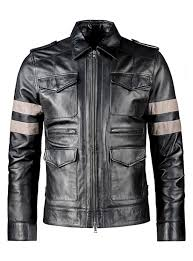 sputer re6 resident evil 6 mens pu faux black leather jacket