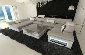 Details About Luxury Sectional Sofa Atlanta U Designer Couch With Led Lights