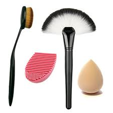 silicone makeup brush. brushes silicone cleaner glove- makeup sponge. ;  brush
