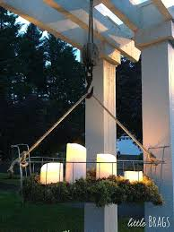 outdoor hanging candle chandelier hang a wire basket add mosirage outdoor led candles with