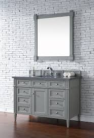 james martin brittany single 48 inch urban gray transitional bathroom vanity with top options