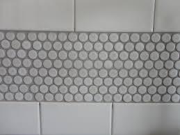 White subway tile grey grout bathok penny round backsplash white white  subway tile grey grout bathok
