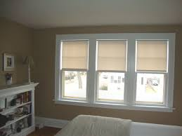 Bedroom Window Curtain White Triple Single Hung Window Completed With Contemporary Loft