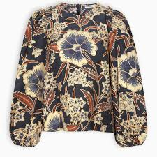Naomi Floral Pattern Bluse