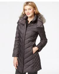 Kenneth Cole Faux Fur Trim Chevron Quilted Down Coat | Where to ... & ... Kenneth Cole Faux Fur Trim Chevron Quilted Down Coat Adamdwight.com