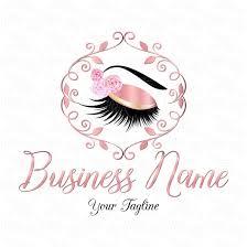 Eyelash Graphic Design Digital Custom Logo Design Flowers Lashes Logo Eye Lashes