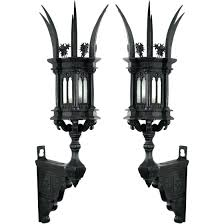gothic wall sconce pair of century wall sconces for gothic style wall sconce