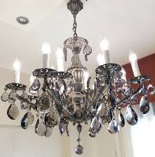 vintage exclusive original maria theresa chandelier bohemian crystal structure of bronze 12 lights