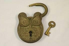 Brass vintage pad locks