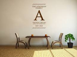personalised wall art stickers