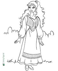It allows your children to think about the different color combinations that. Princess Coloring Pages