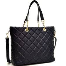 Dasein Faux Leather Quilted Tote Bag with Chained Handles – Dasein ... & Dasein Faux Leather Quilted Tote Bag with Chained Handles Adamdwight.com