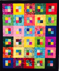 Free Batik Quilt Pattern - Easy Squares - Carol's Quilts & Free Batik Quilt Pattern Example with multiple colours 6 by 5 blocks Adamdwight.com