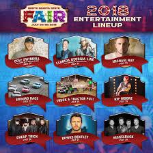 2018 North Dakota State Fair Grandstand Lineup