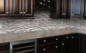 Creativity Kitchen Backsplash Glass Tile Dark Cabinets Image For Cream Soda Subway And Concept Design