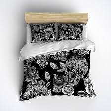 Skull Bedroom Sugar Skull Bedding Any Color Mega Print With Large Detailed